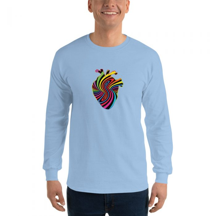 Rainbow Heart Long Sleeve T-Shirt