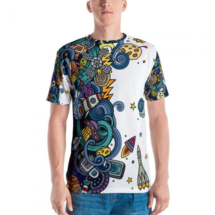 Cartoon Space Men's T-shirt