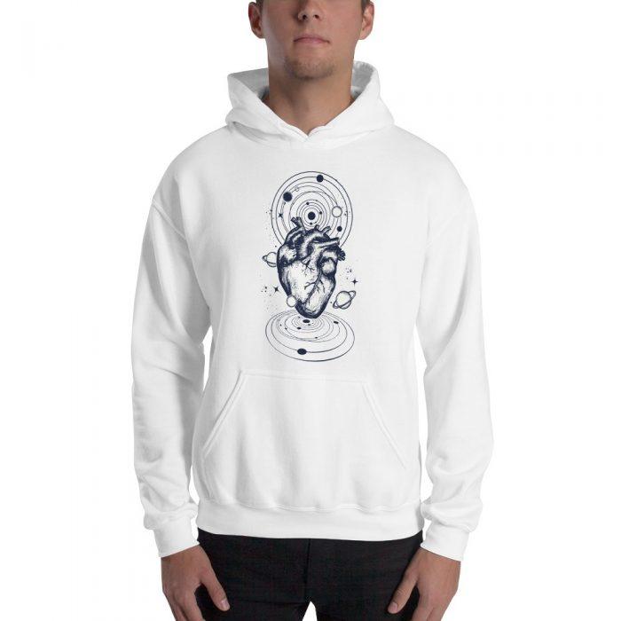 Space Heart Hooded Sweatshirt