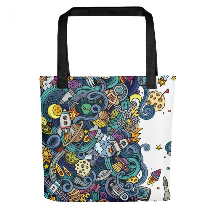 Cartoon Space Pattern Tote bag