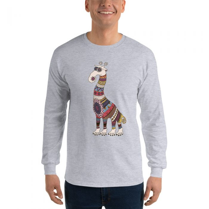 Cartoon Giraffe Long Sleeve T-Shirt