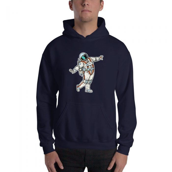 Posing Astronaut Hooded Sweatshirt