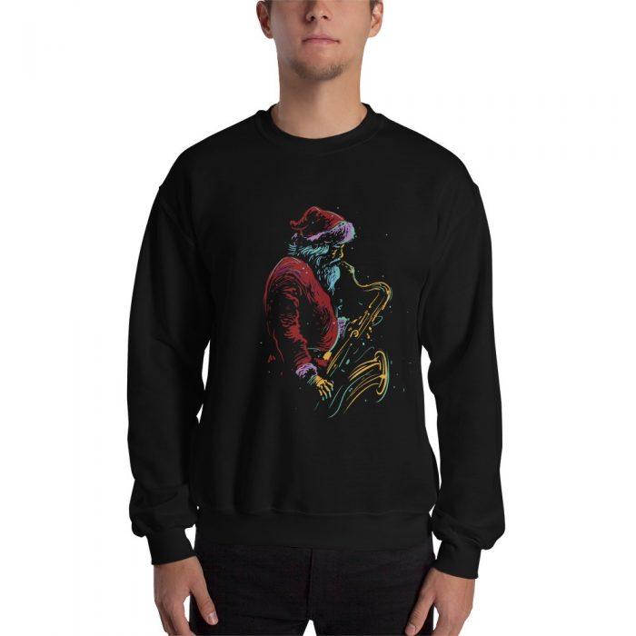 Santa Saxophone Christmas Sweatshirt