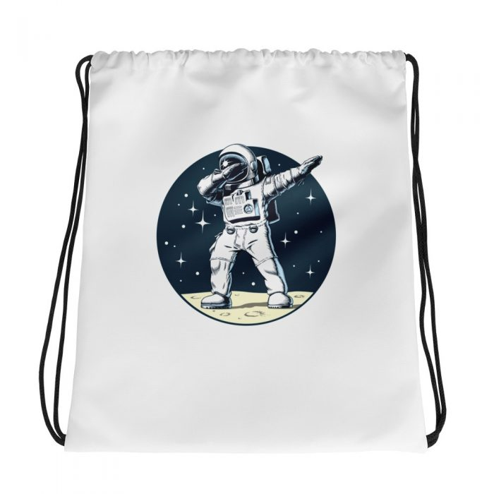 Dancing Astronaut Drawstring bag