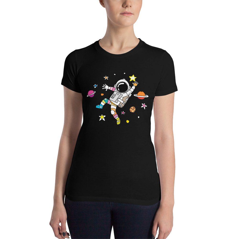 Dancing Astronaut Women's Slim Fit T-Shirt