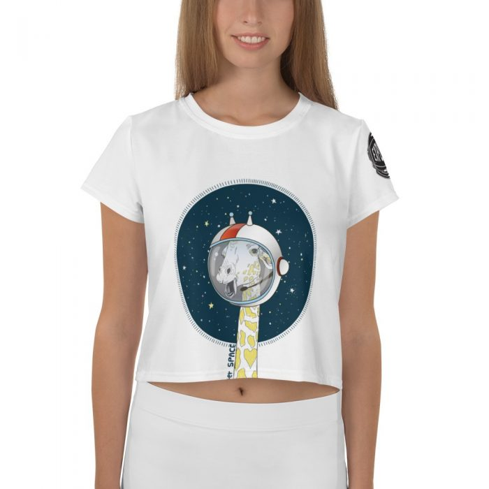 Space Giraffe Crop Tee