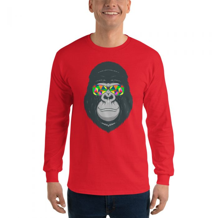 Cool Gorilla Long Sleeve T-Shirt
