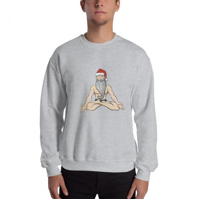 Meditating Yogi Santa Christmas Sweatshirt