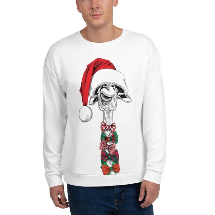 Christmas Giraffe Santa Unisex Sweatshirt