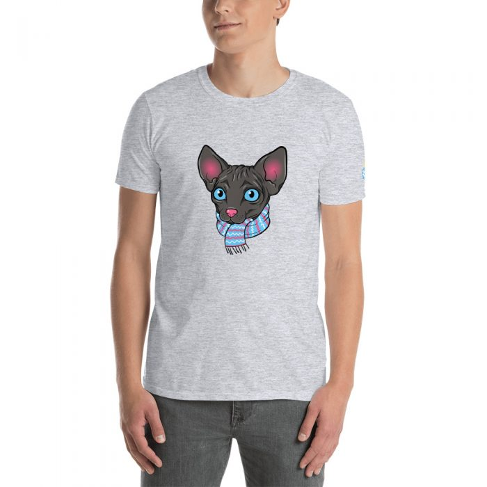 Cartoon Sphynx Cat Short-Sleeve Unisex T-Shirt