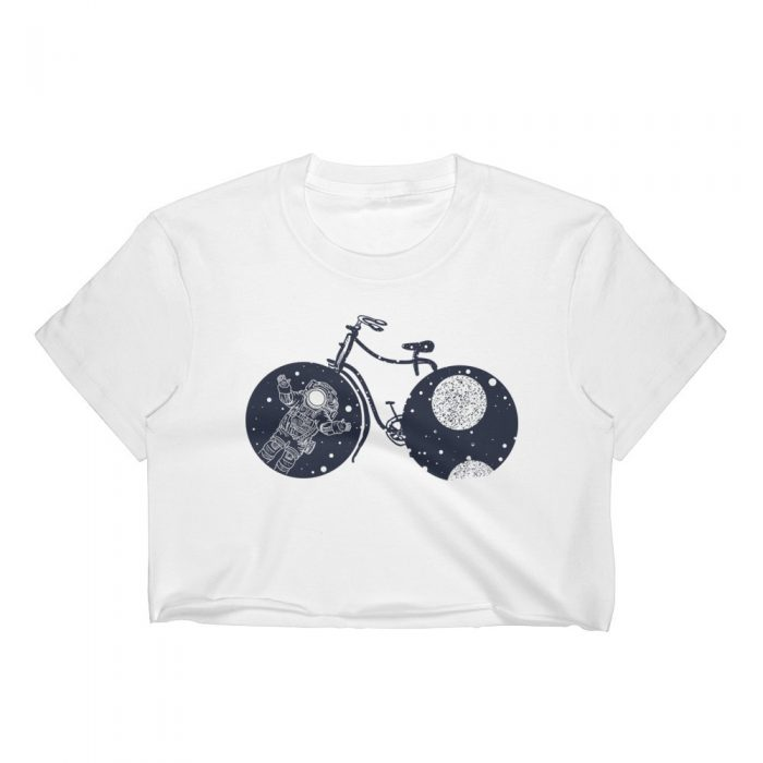Space Bicycle Women's Crop Top