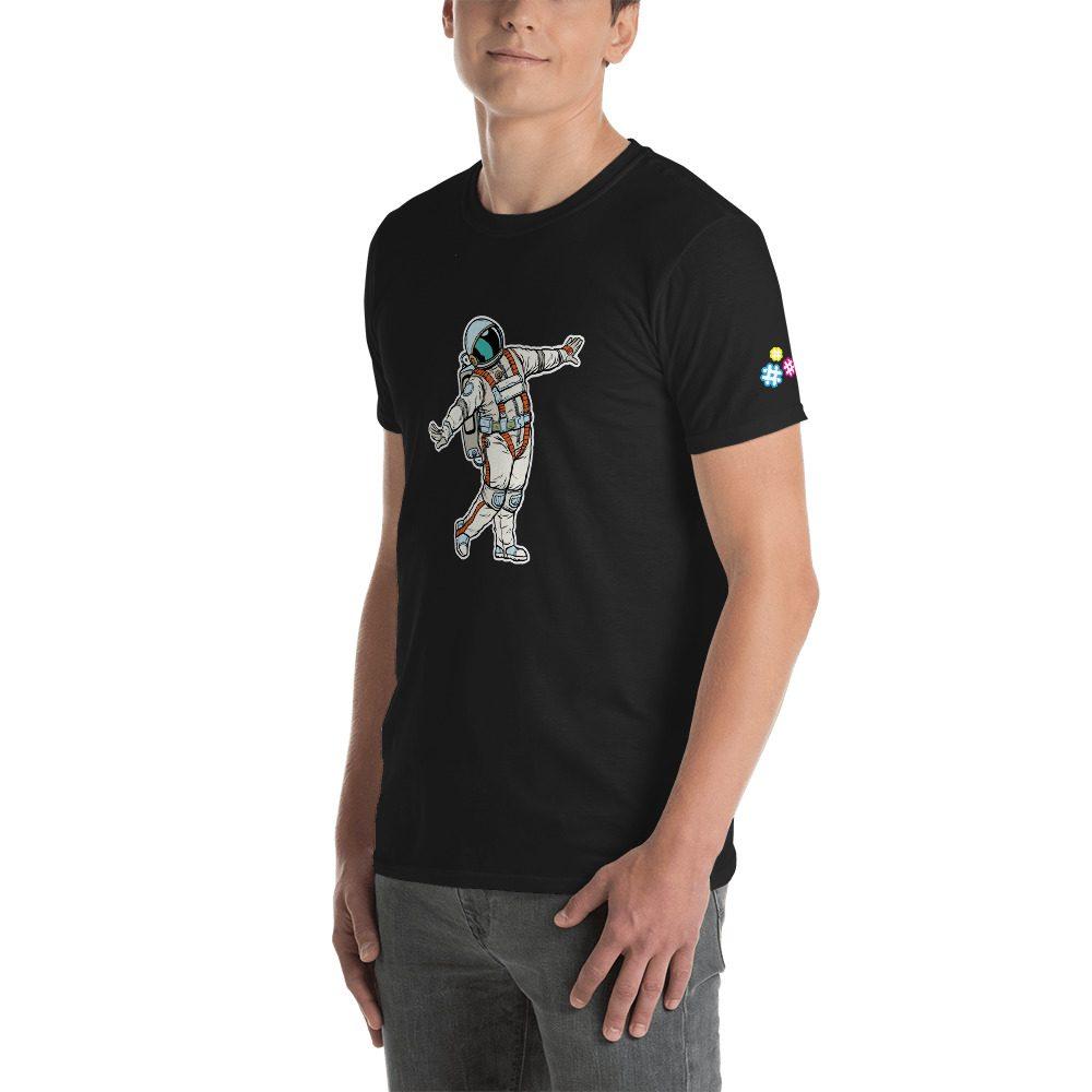 Astronaut Posing Short-Sleeve Unisex T-Shirt