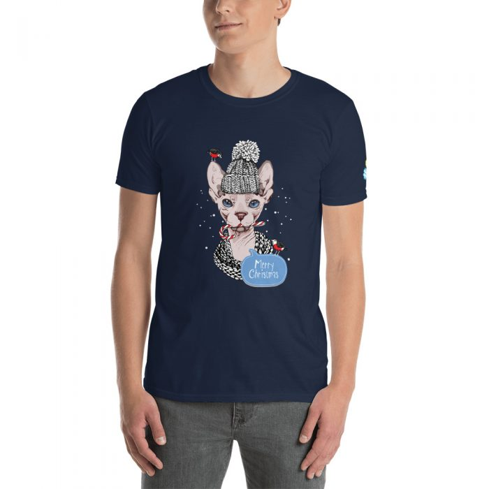 Christmas Sphynx Cat Short-Sleeve Unisex T-Shirt