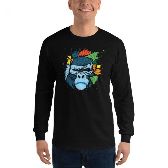 Gorilla Painting Long Sleeve T-Shirt