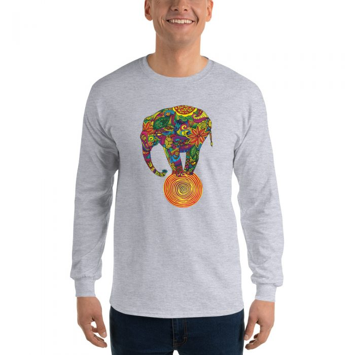 Balancing Elephant Long Sleeve T-Shirt