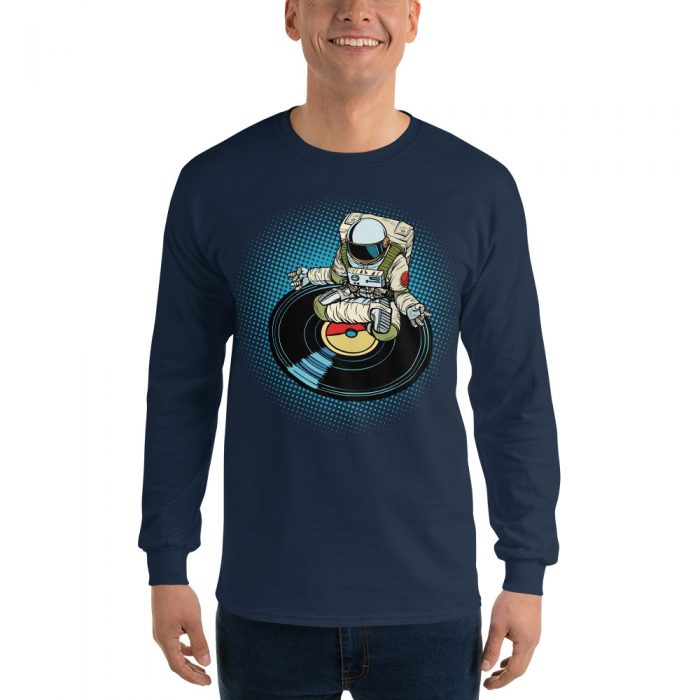 Meditating Astronaut Long Sleeve T-Shirt