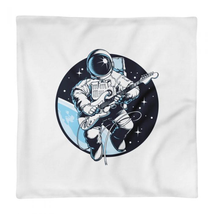 Astronaut Playing Guitar Pillow Case only
