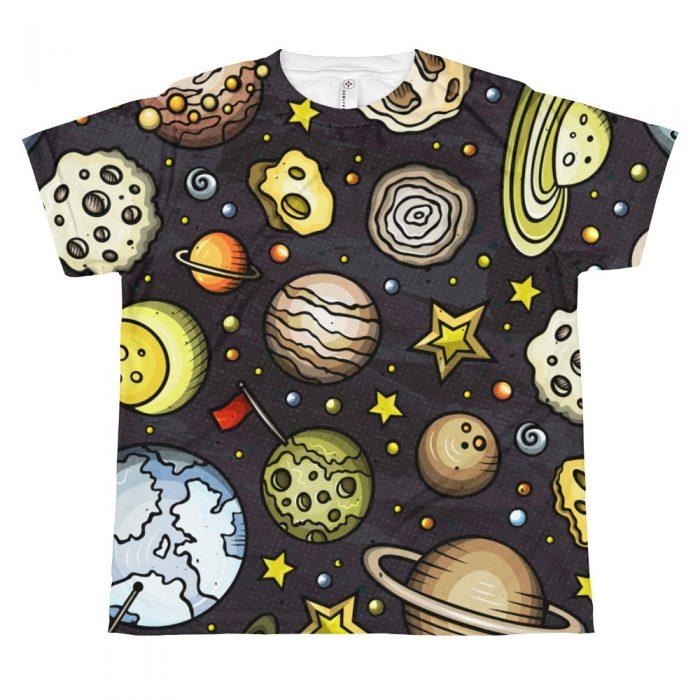 Planets Pattern T-shirt