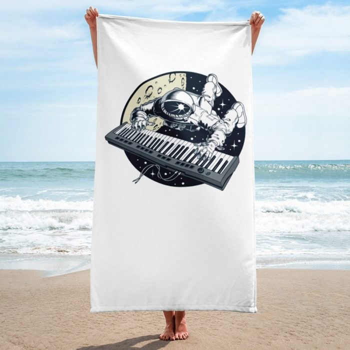 Astronaut Playing Keyboard Towel