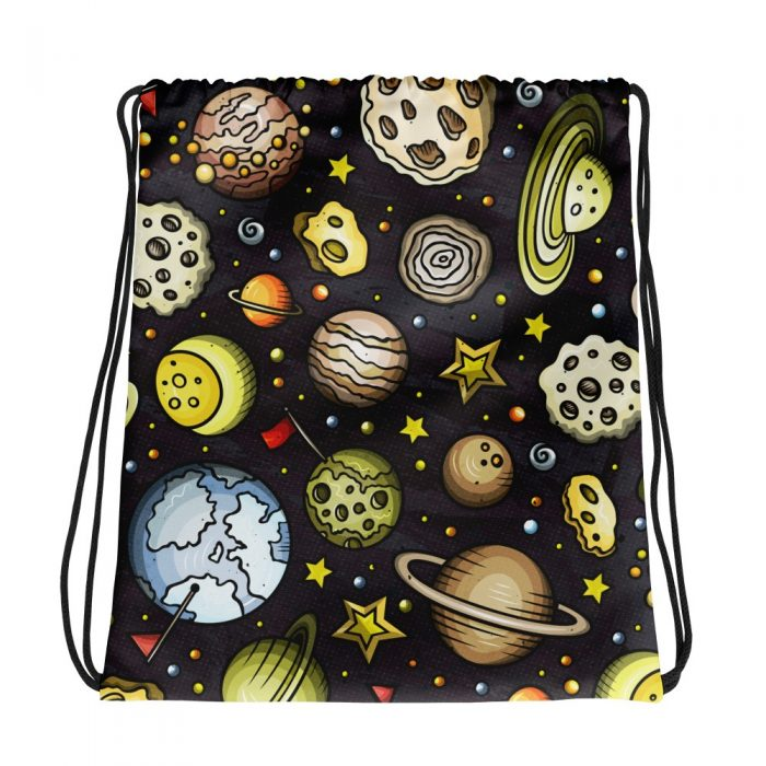 Planets Pattern Drawstring bag