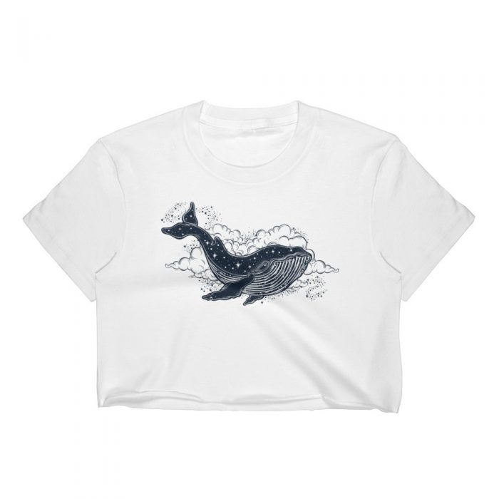 Space Whale Women's Crop Top