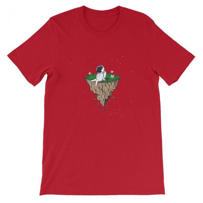 Astronaut on a Rock Short-Sleeve Unisex T-Shirt