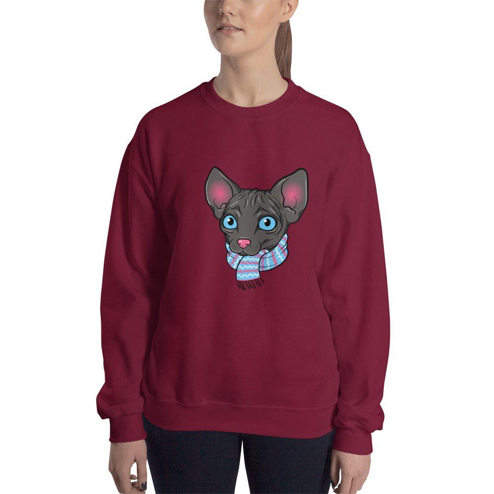 Cartoon Sphynx Cat Sweatshirt