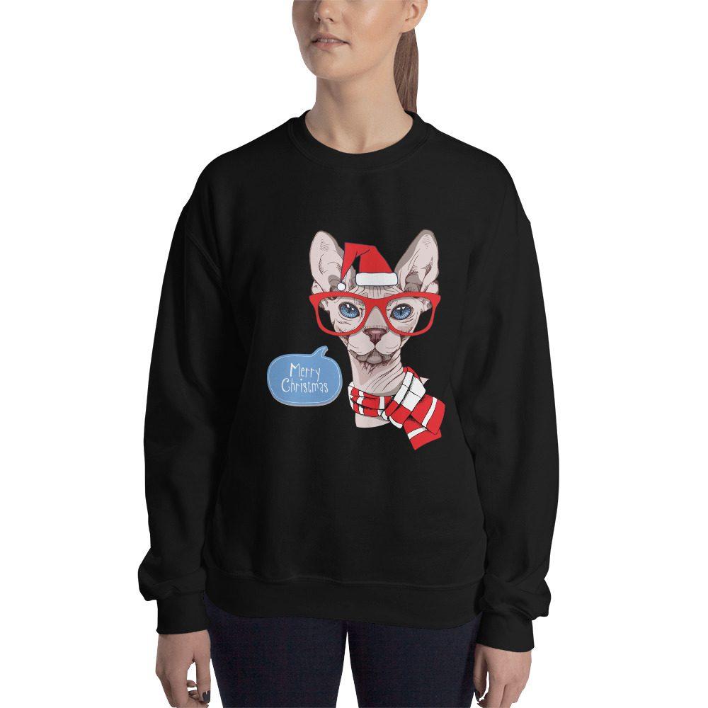 Sphynx Cat Christmas Sweatshirt