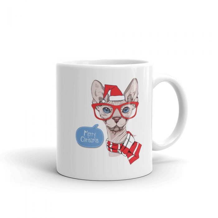 "Sphynx Cat ""Merry Christmas"" Mug"
