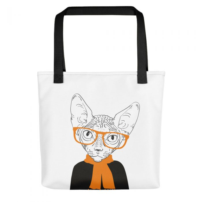 Smart Sphynx Cat Tote bag