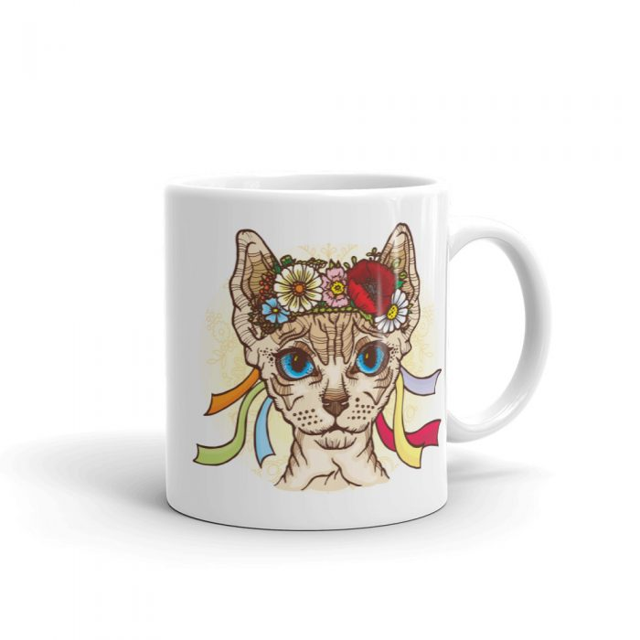 Hippie Sphynx Cat Mug
