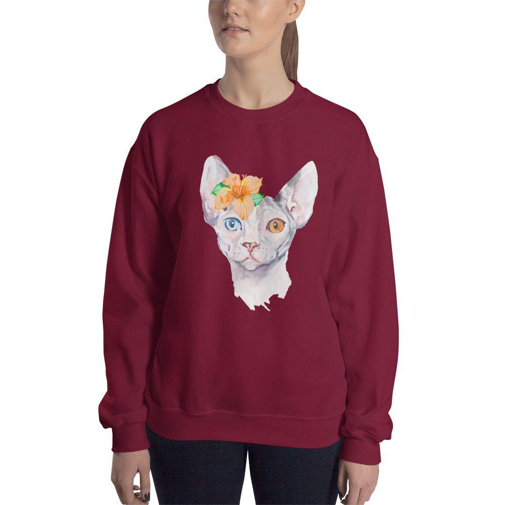 Sphynx Cat Portrait Sweatshirt