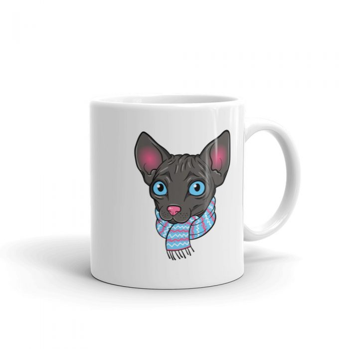 Cartoon Sphynx Cat Mug