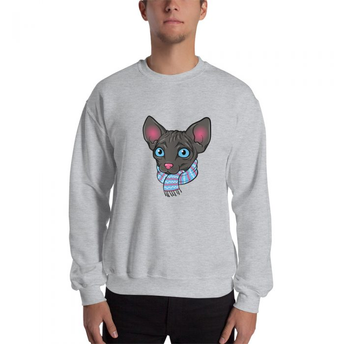 Cartoon Sphynx Cat Sweatshirt