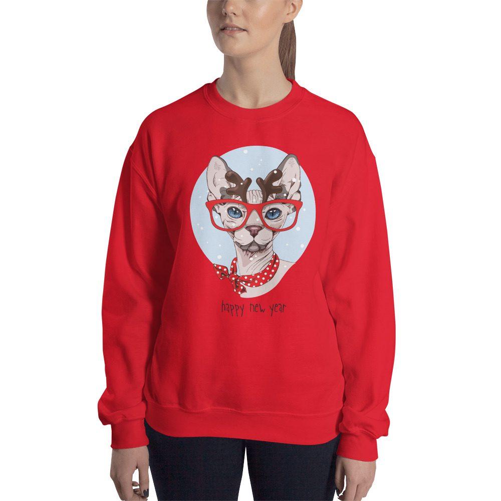 "Sphynx Cat ""Happy New Year"" Sweatshirt"