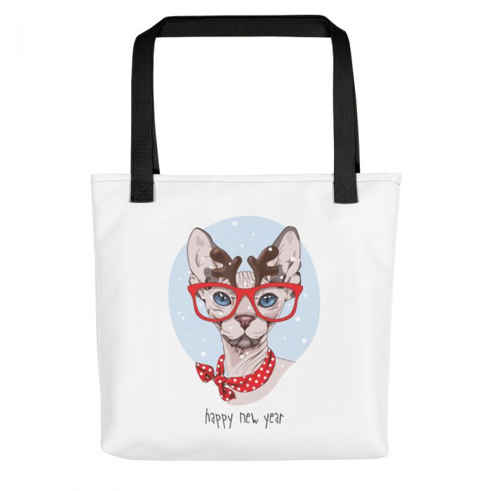 "Sphynx Cat ""Happy New Year"" Tote bag"