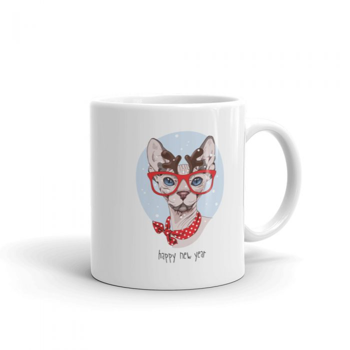 "Sphynx Cat ""Happy New Year"" Mug"