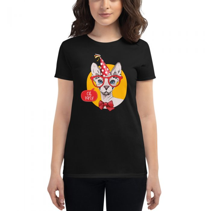 Cat Party Sphynx Cat Women's short sleeve t-shirt